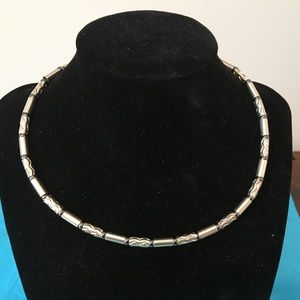 "Tiffany & Co Germany Aztec Bead Zig Zag 16"" Choker"